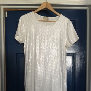 Michael Kors white sequins dress